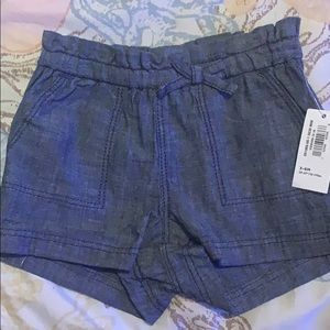 🎀Old Navy chambray shorts 3-6 months NWT